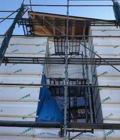 「斜の家」木工事