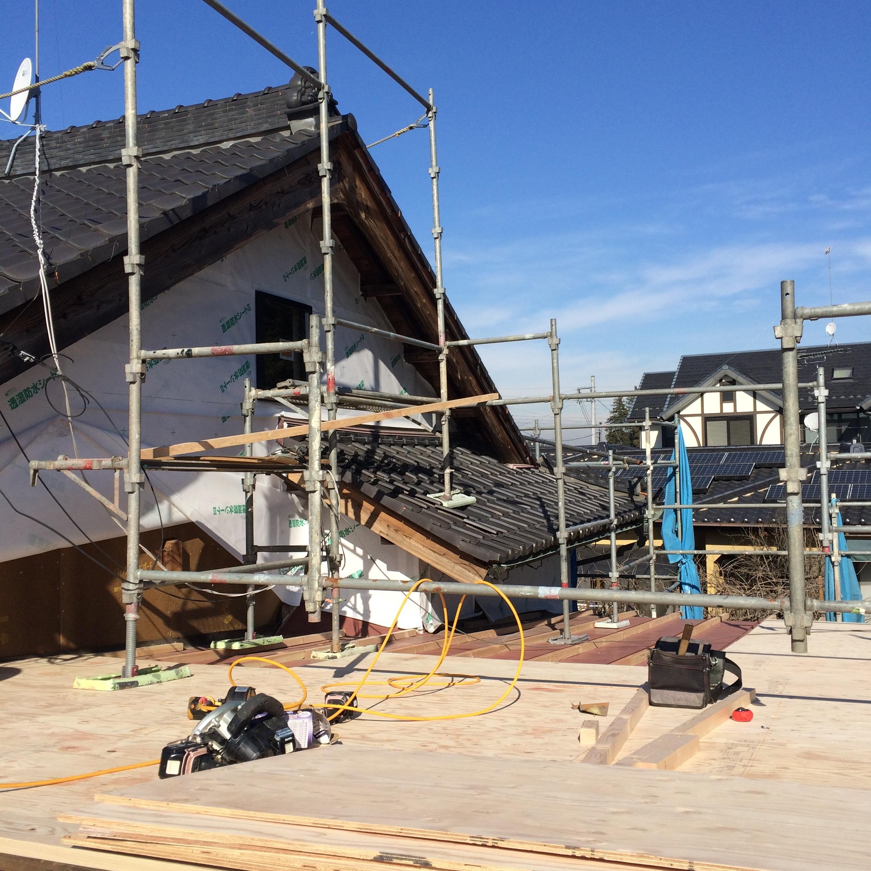 屋根の葺替え〈古河市の住宅〉