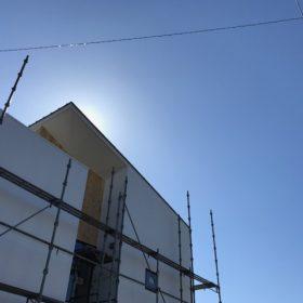 「斜の家」の足場解体