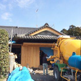 玄関土間打設 古河市の住宅