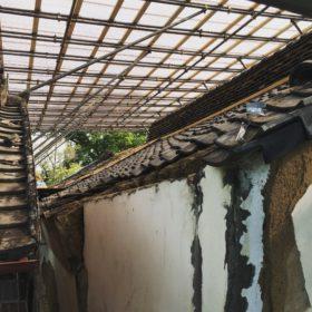 築160年の土蔵修理現場